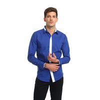 New Fashion Brand Long Sleeve Shirt Men Slim Design Formal Casual Male Dress Shirt Casual Men