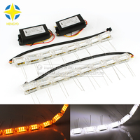 2pcs LED hot sale strip flexible light Waterproof Daytime Running Lights DRL Turn Signal bulb lamp