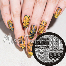 New Stamping Plate hehe83 Tribal Totem Bohemia Ethnic Style Nail Art Stamp Template Image Transfer Tool