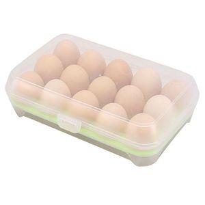 Image 4 - البيض الثلاجة الطازجة مربع 15 بيضة بلاستيكية رف المطبخ البيض حاوية تخزين المواد الغذائية كفاءة البيض موزع صندوق تخزين