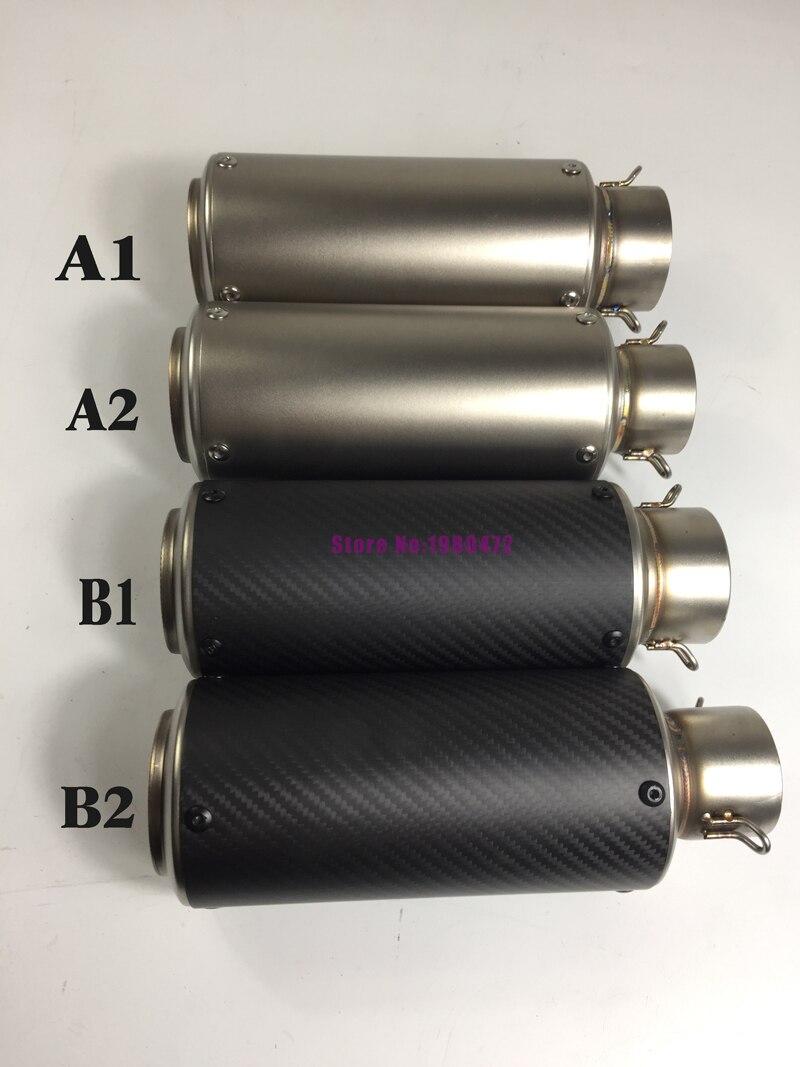 Inlet 51mm 61mm Motorcycle Exhaust Muffler Motorbike Carbon Fiber Muffler Escape for Motorcycle R1/R25/S1000/CBR1000/MT09/KTM200