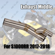 Motorcycle Exhaust Middle Pipe Link For BMW S1000RR 2017 2018 17-18 Slip-On without Muffler