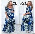 2XL-6XL Dear lover Черный V Шеи С Коротким Рукавом Сахара и специи Плюс Размер Dress Большой Размер Женщин Одежда Для Беременных женщина