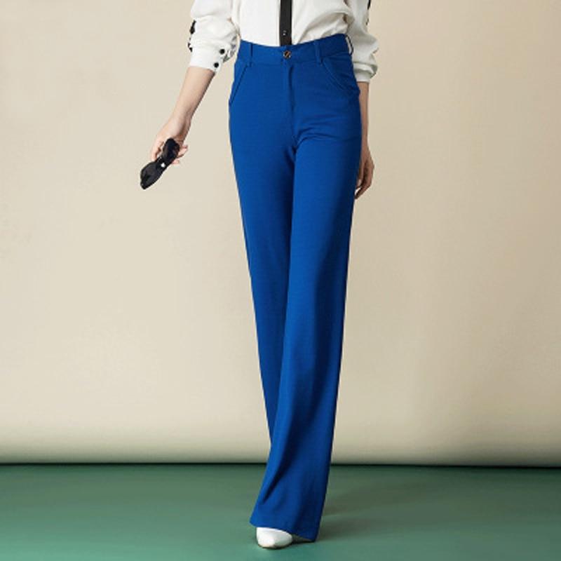 Damen elegante gerade lange Anzughose hohe Taille Office Lady OL - Damenbekleidung - Foto 2