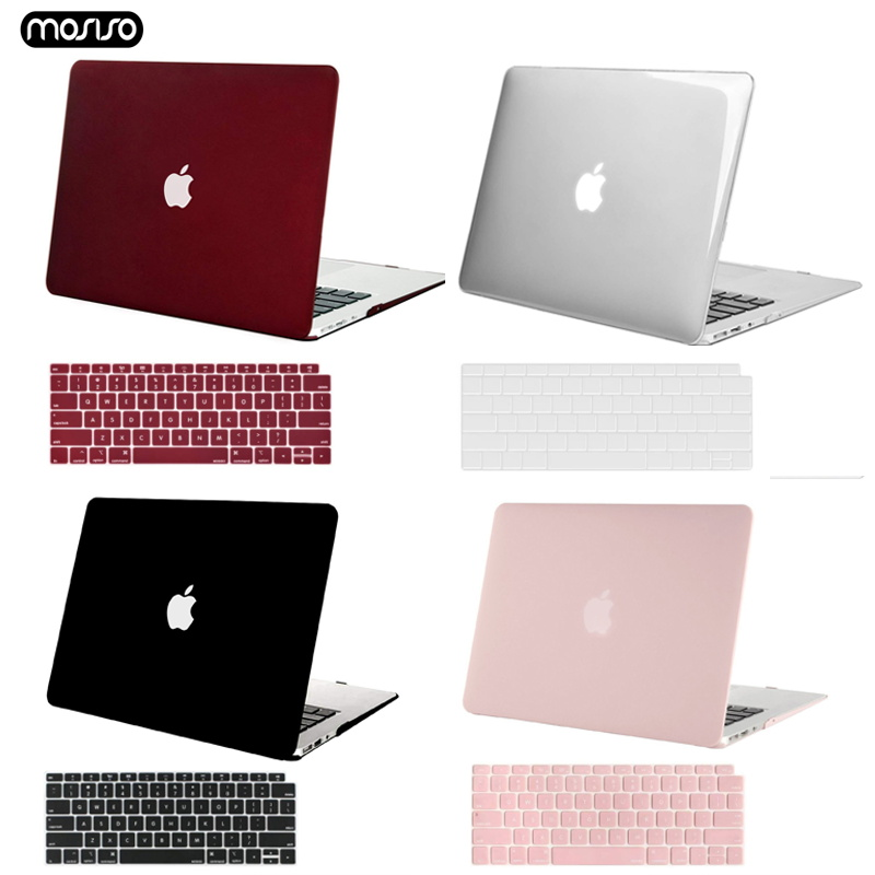 MOSISO Crystal Hard Case For Macbook Air 13 New 2018 Retina Pro 13 Hard Cover With Free Keyboard Cover Model A1466 A1502 A1932