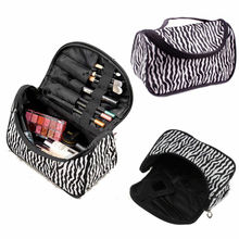 цена на 2019 New Women Large Makeup Bag Cosmetic Case Storage Handle Travel Organizer Storage Bags