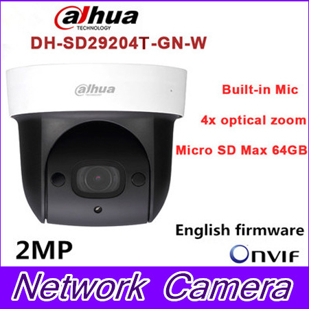 Dahua SD29204T-GN-W replace SD29204S-GN-W 2Mp Network Mini IR WIFI PTZ IP WIFI Speed Dome Camera English Firmware Free Shipping dahua sd29204t gn w 2mp mini ir ptz wifi ip speed dome new version english firmware wdr day night 2 7mm 11mm focal length
