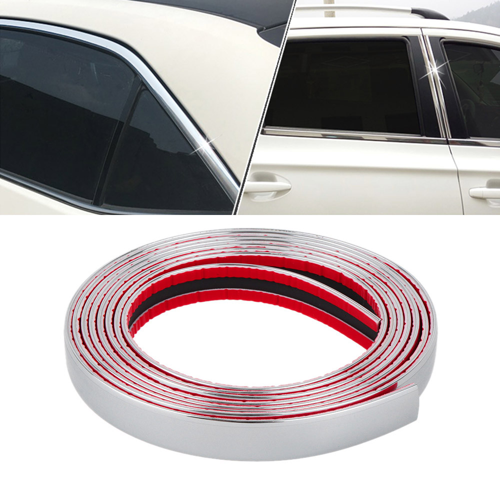 US $1 47 18% OFF|1 Roll Car Chrome Styling Decoration Moulding Trim Strip  Tape Auto DIY Body Bumper Protect Sticker 6mm 8mm 10mm 12mm 15mm 20mm-in