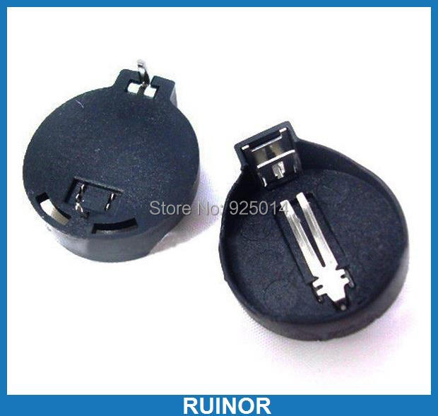 200PCS Holder Socket Case Battery Button Cell for CR2032 10 pcs lot diy battery holder case storage black box hold cr2032 3v button coin cell wire lead on off switch veh51 p15