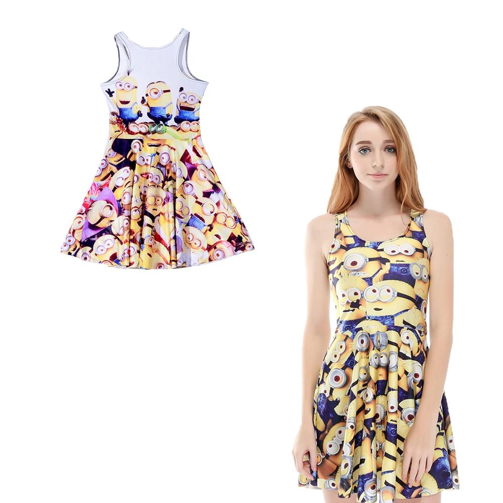737e4ed56b19 Minions 3d Print Reversible Tennis Dress Saias Women High Waist Sundress  Summer A line Pleated Dress Breathable Skater Dresses-in Tennis Dresses  from Sports ...