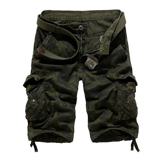 Cargo Shorts Camo Army Green