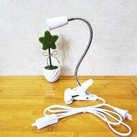 With The Light Bulb Led Desk Lamp E27 Lamp Holder Belt Clip Lamp Switch Desk Lamps
