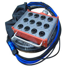 KUILONG プロオーディオ 12 チャンネルとステージヘビケーブル XLR コンボジャックボックス 15FT A