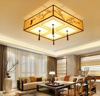 New Chinese Style Ceiling Lamp Rectangular Living Room Lamp Personality Led Atmosphere Modern Simple Bedroom Study