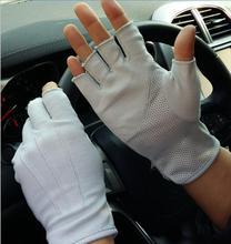 Neue Sommer Anti-Uv Handschuhe Männer Dünne Schweiß Absorption Atmungsaktive Nicht-Slip Auto Auto Stick Outdoor Hand Protector Halb Finger handschuhe