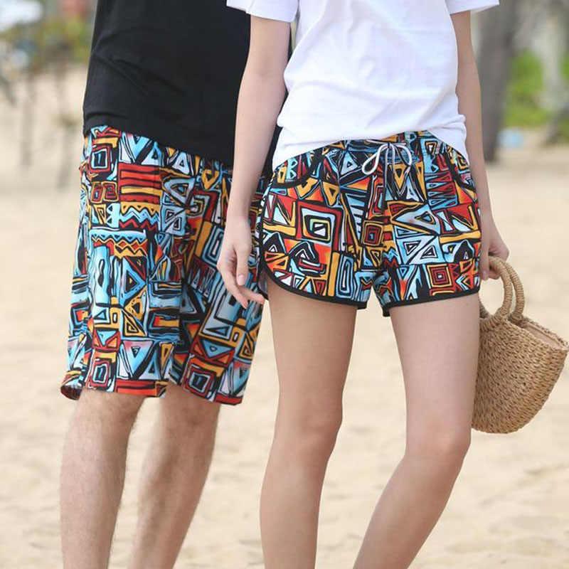 860c3c42e9844 Quick Dry Beach Shorts For Couple Swimwear Men Surf Short Pants Male Summer  Women Swim Surf