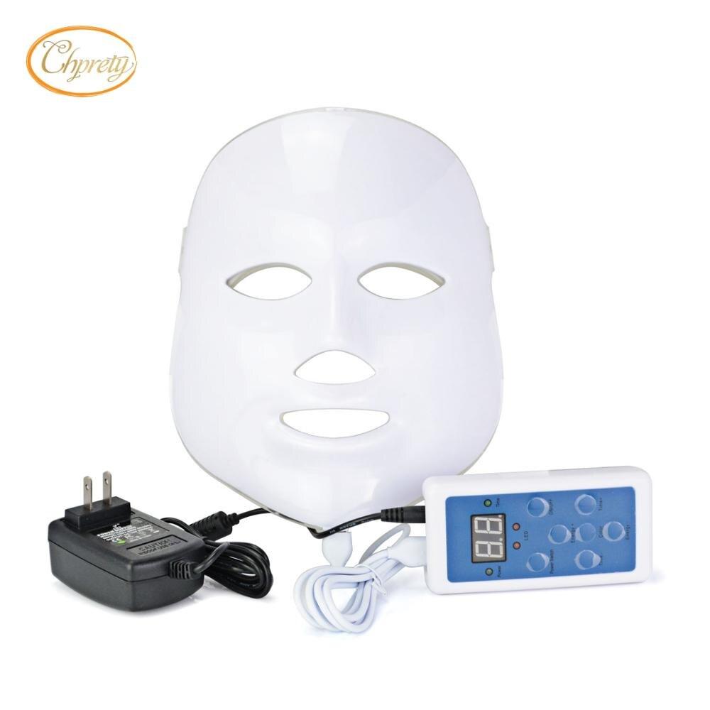 Beauty Therapy Photon LED facial mask led 3/7 Colors Light Skin Care Rejuvenation Wrinkle Removal, Skin Rejuvenation, Moisturizi