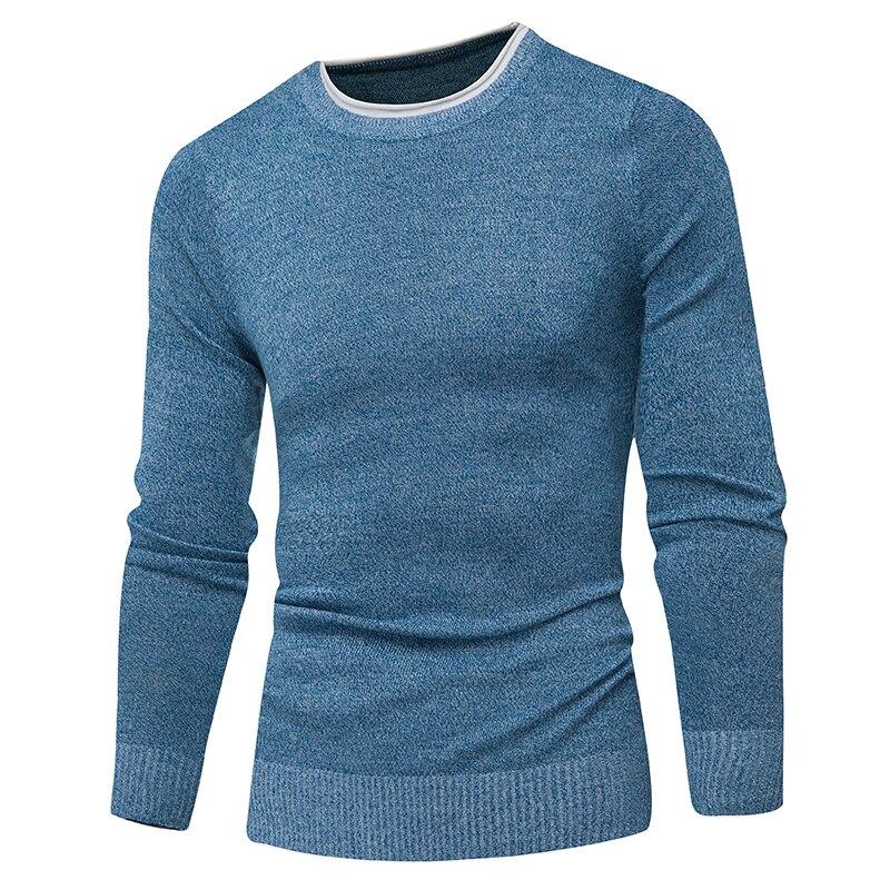 Пуловер Для мужчин 2017 мужские брендовые свитер для повседневной носки Для мужчин одноцветное Цвет удобные Для мужчин S Рождественский свитер круглый Средства ухода за кожей шеи Slim Fit тянуть Homme