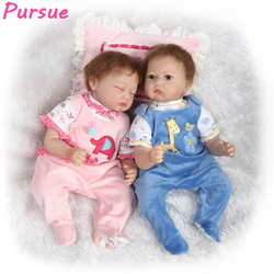 Pursue reborn babies twin baby doll 22 inch silicone baby dolls for sale toys for children.jpg 250x250