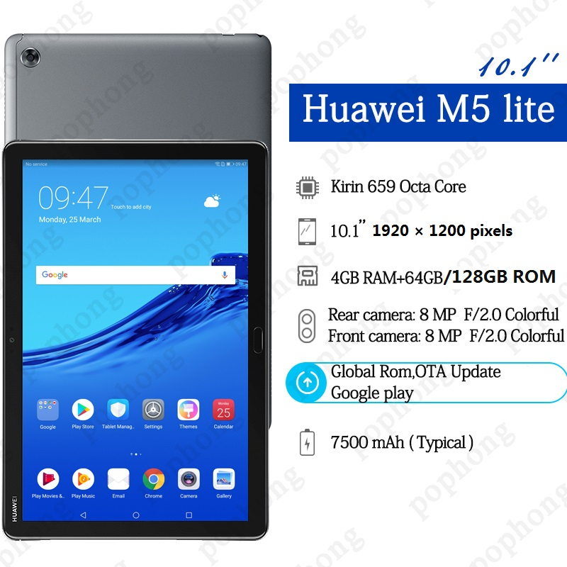 Global ROM Original HUAWEI MediaPad M5 lite 10 1