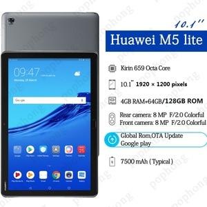 """Image 4 - הגלובלי ROM המקורי HUAWEI MediaPad M5 לייט 10.1 """"אנדרואיד 8.0 4G RAM 64G ROM Huawei M5 לייט tablet PC טביעות אצבע נעילה"""
