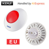 Wireless Flashing Siren Multipurpose Stand Horm Alarm System System Red Light Strobe Siren 433 MHz Wireless
