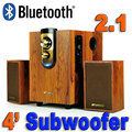 2016 New High Quality Cheap HiFi Speakers Desktop Audio Computer Speaker Multimedia Mini Wood Speaker USB Wool 2.1 Bubwoofer