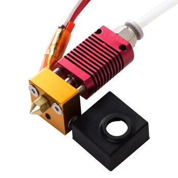 뜨거운 판매 조립 된 1.75mm 압출기 핫 엔드 키트 3d 프린터 용 알루미늄 히트 블록 Ender-3/CR-10/CR-10S 0.4mm 노즐 프린터 포함