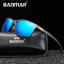 BANMAR Aluminum Magnesium Men Sunglasses Polarized Sports Driving Goggles Sunglass Fishing UV400 Square Sun Glasses For Men banmar aluminum magnesium men sunglasses polarized sports driving goggles sunglass fishing uv400 square sun glasses for men