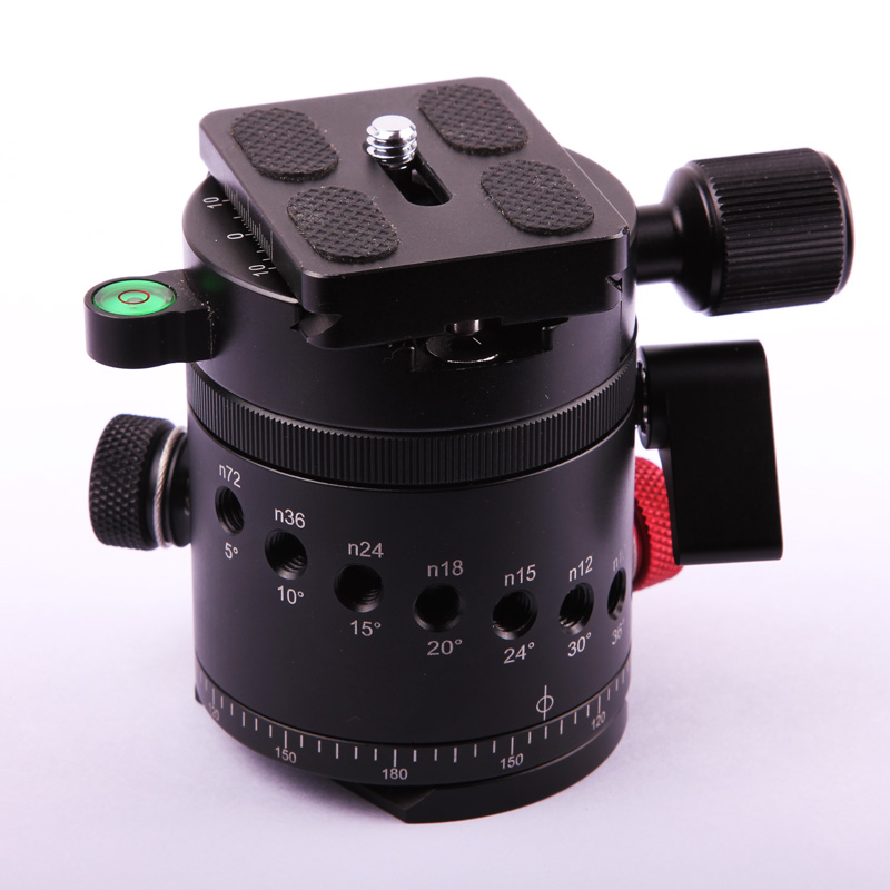 Camera Aluminum Alloy Panoramic 360 Degree Indexing Rotator Ball Head with Quick Release Plate for Camera Tripod Head