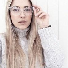 Clear Ladies Eyeglasses Cat Eye Retro Glasses Frame Luxury Brand Design Glasses Women Eyewear Frames Optical Spectacle Frame
