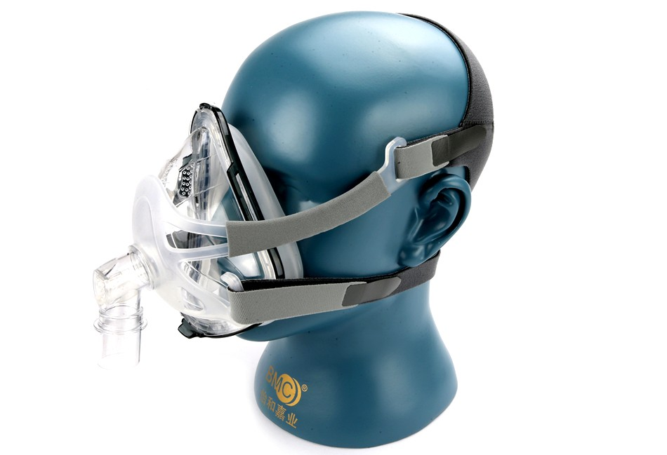 COXTOD FM1A Full Face Mask With Headgear For CPAP Machine Air Flow Breath Size S/M/L Snoring Therapy Interface