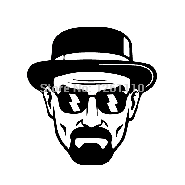 Heisenberg vinyl decal walter white breaking bad sticker car window bumper 14cm x 15cm in car stickers from automobiles motorcycles on aliexpress com