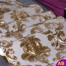купить European carved embossed gilt Damascus papel de parede 3D wallpaper for walls 3 d wall papers home decor roll contact paper по цене 1624.37 рублей