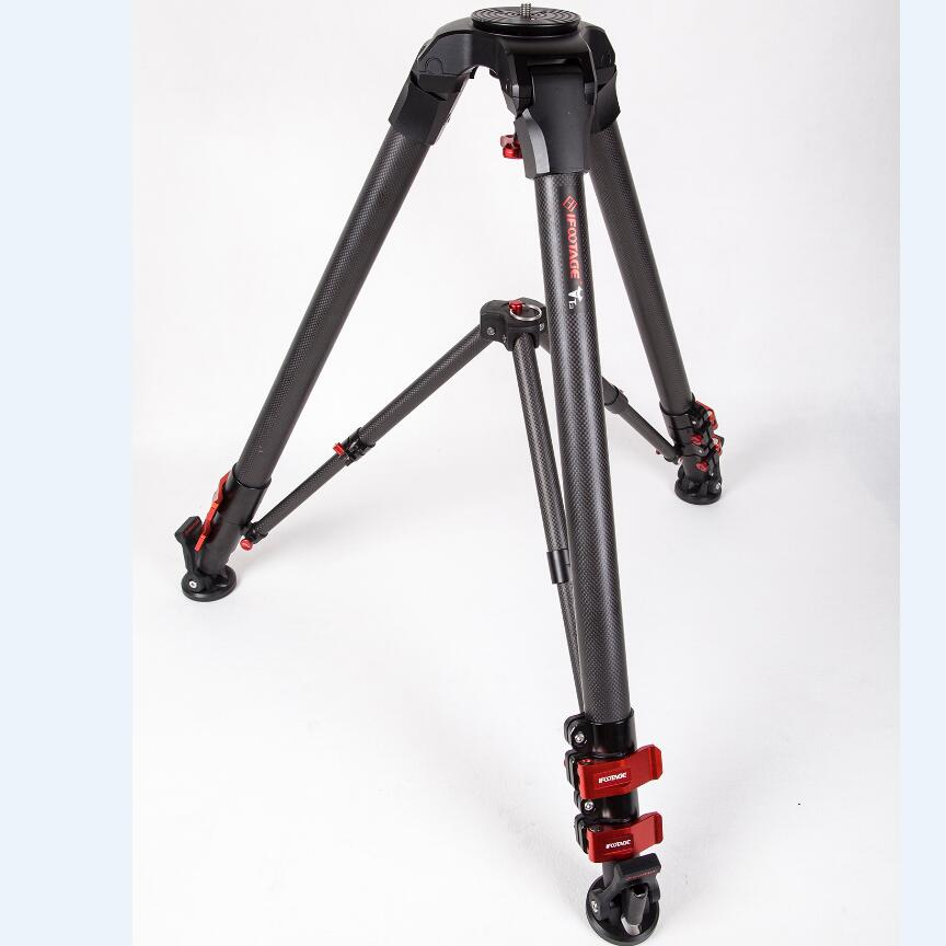 iFootage T3 carbon fiber dslr camera video tripod photo camcorder stand professional portable travel photography studio new arrive 240 cm 95 inch portable photo video studio tripod stand for dslr camera speedlite softbox photography light stand
