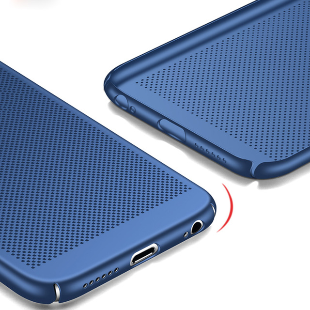 Ultra Slim Phone Case For iPhone 6 6s 7 8 Plus 5 5S SE Hollow Heat Dissipation Hard PC Cases For iPhone X XR XS MAX Back Cover 4