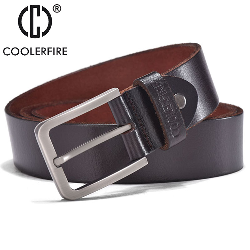 Belts for men Men's 100% Italian top full grain Cow Leather Belt Men With Anti-Scratch Buckle JTC013