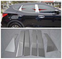 High quality stainless steel window trim cover 6pcs For Hyundai Santa Fe ix45 2013 2014 2015 2016 2017
