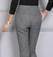 Мода 2017 г. новые зимние женские офисные Бизнес офисные Pantalon прямые вспышек тонкий ПР Формальные Pantalones для женщин 4XL плюс Размеры черный