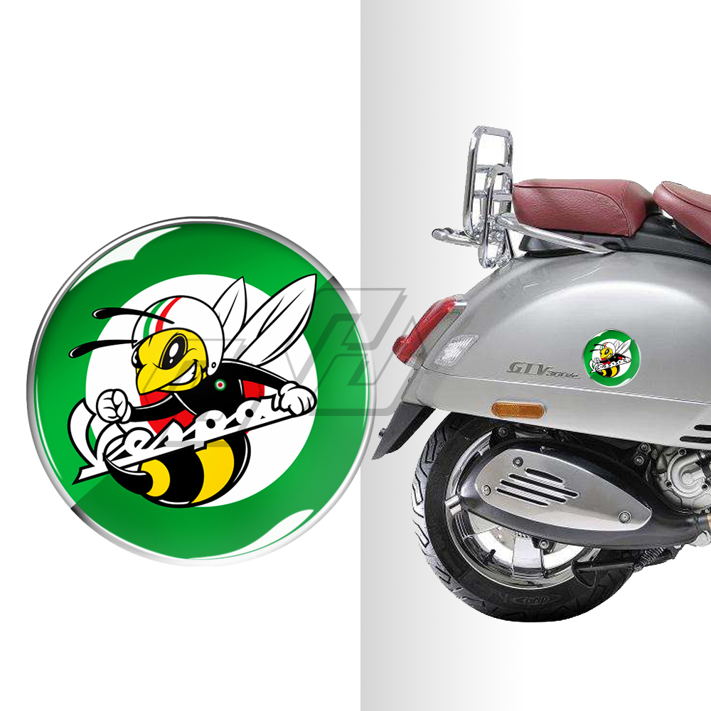 3D Round Motorcycle Decal Sticker Resin Italy Stickers Case For PIAGGIO VESPA GTS GTV LX LXV 125 250 300 Ie Super
