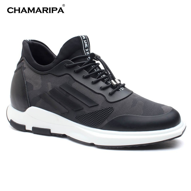 CHAMARIPA Men Elevator Shoes  Increase Height 7cm/2.76 inch New Fashion Sneaker With Hidden Heel Shoes H72C11K162D chamaripa increase height 7cm 2 76 inch elevator shoes increase height shoes men business formal black shoes