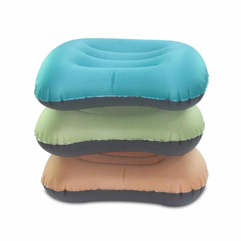 Inflatable Udara Leher Nap Bantal untuk Tidur Di Tenda Piknik Tikar Perjalanan Camp Bantal Kantor Pesawat Mobil Lumbalis Bantal Dukungan