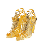 Piececool 3D Steel Metal Puzzle High Heeled Sandals Shoes Pumps Home Decorations Metal Building Models Sets
