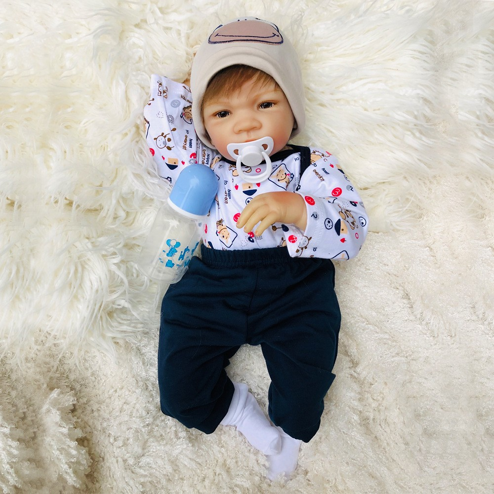 Reborn Baby Dolls 20inch 50CM Soft Vinyl Silicon Reborn Baby Doll Cute Doll Bonecas Toy for
