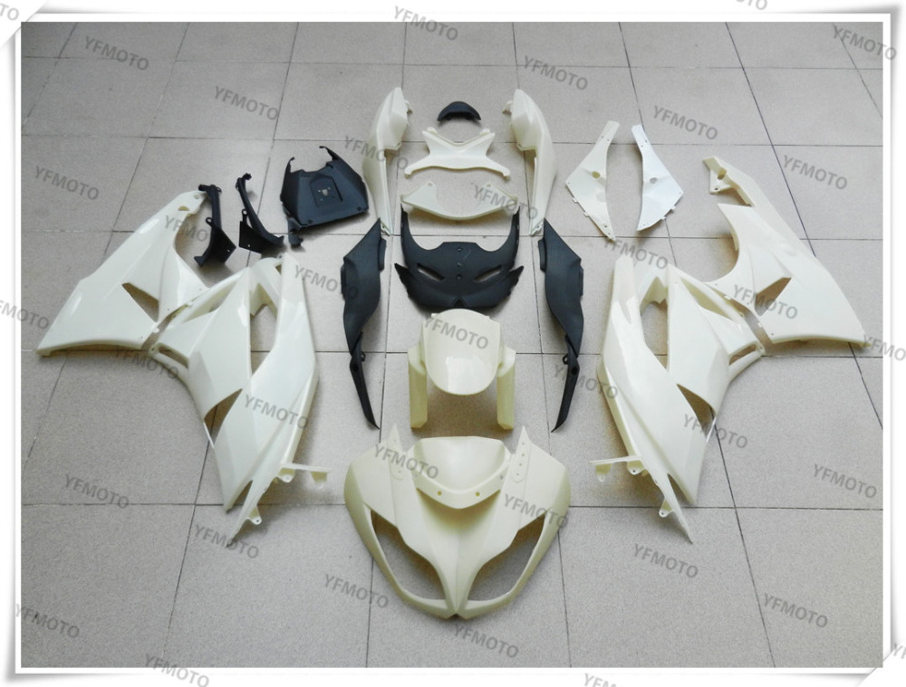 Motorcycle ABS Unpainted White Fairings BodyWork Kit For KAWASAKI ZX-10R ZX 10R ZX10R 2008 2009 2010  +4 Gift moto motorcycle fairing kit for kawasaki ninja zx10r zx 10r 2008 2009 2010 08 09 10 abs plastic fairings fairing kit white black