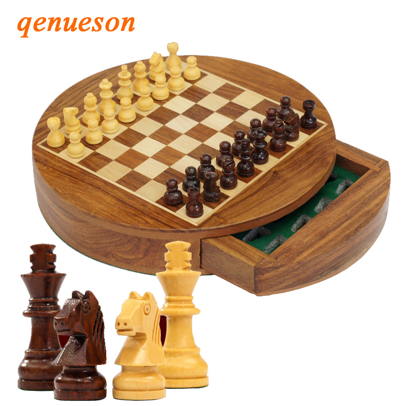 Mini Upscale Circle Solid Wood Magnetic Drawer Chess Portable Non-slip Pieces Box Exquisite Puzzle Convenient Storage Board GameMini Upscale Circle Solid Wood Magnetic Drawer Chess Portable Non-slip Pieces Box Exquisite Puzzle Convenient Storage Board Game