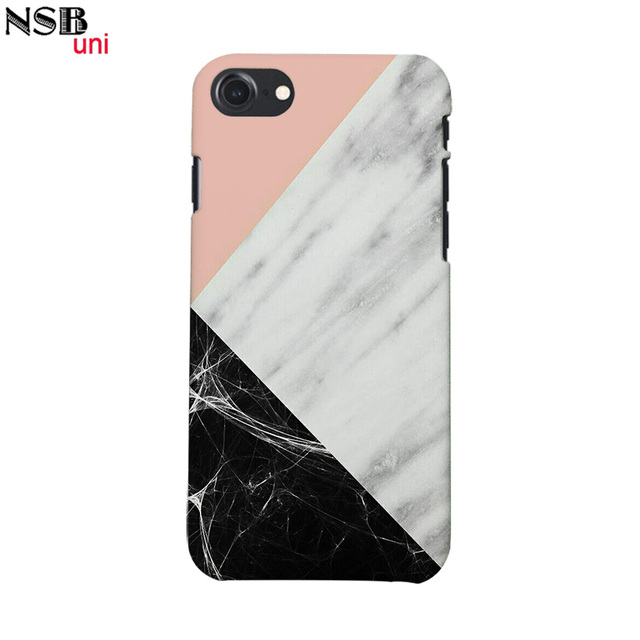 save off fb362 5eb2a US $4.99 |Brand NSBuni 3D Sublimation Unique Protective Cases for iPhone 7  with Cute Half Marble Half Fashion Designs Free Shipping-in Half-wrapped ...