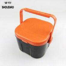 SHOU DIAO Good PVC Portable Square Bait Fishing Box Outdoor Bag Buckets Solid Material Waterproof box