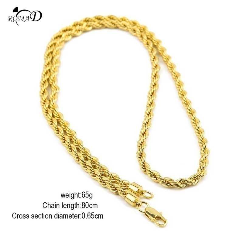 Collar hombre 4mm ancho Punk Miami Cuban gargantilla Collar declaración Hip Hop grande grueso aluminio dorado cadena gruesa A30