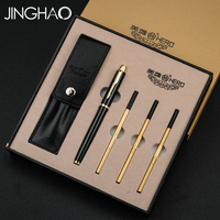 High end Smooth Writing Rollerball Pen Gift Set with 3pcs Refills Business Office Sign Pens Luxury Christmas Gift for Friends